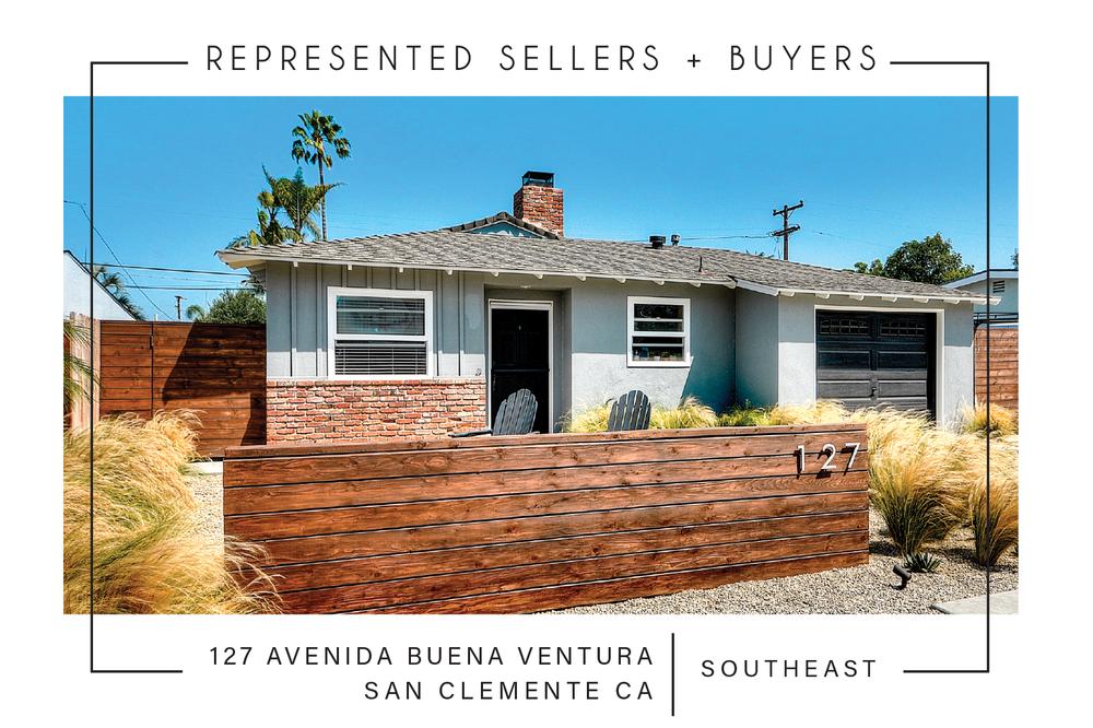 SOLD 4/13/2018    $800,000   127 ave. Buena Ventura, San Clemente CA