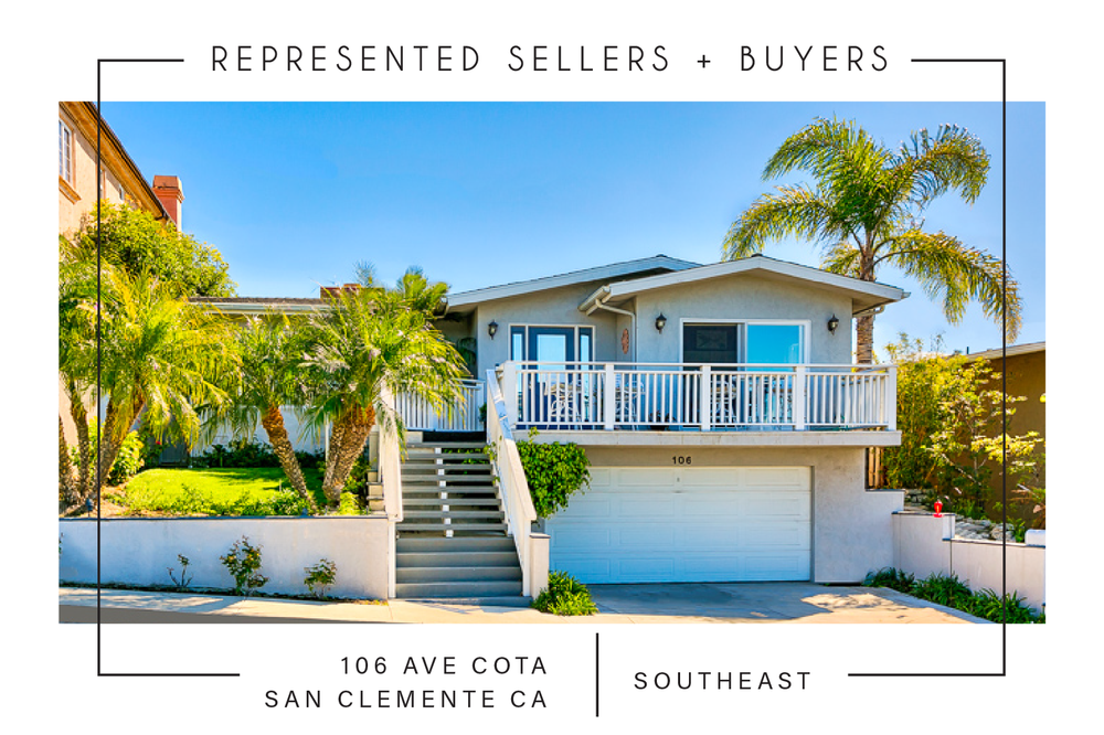 SOLD 4/20/2018     106 ave. cota, San Clemente CA