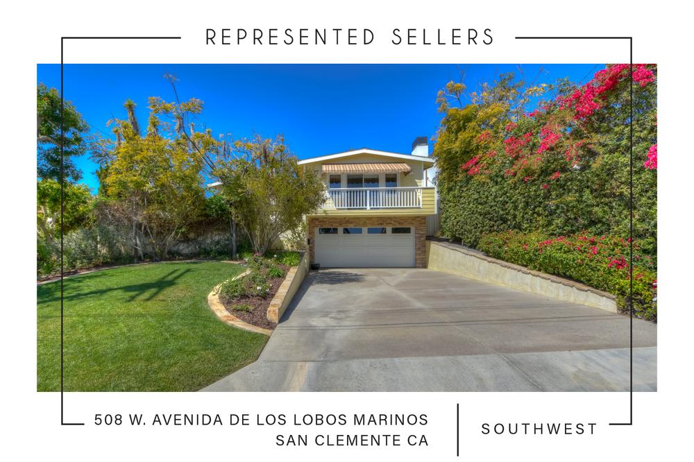 SOLD 7/5/2018   $1,625,000    508 w. avenida de los lobos marinos, San Clemente CA