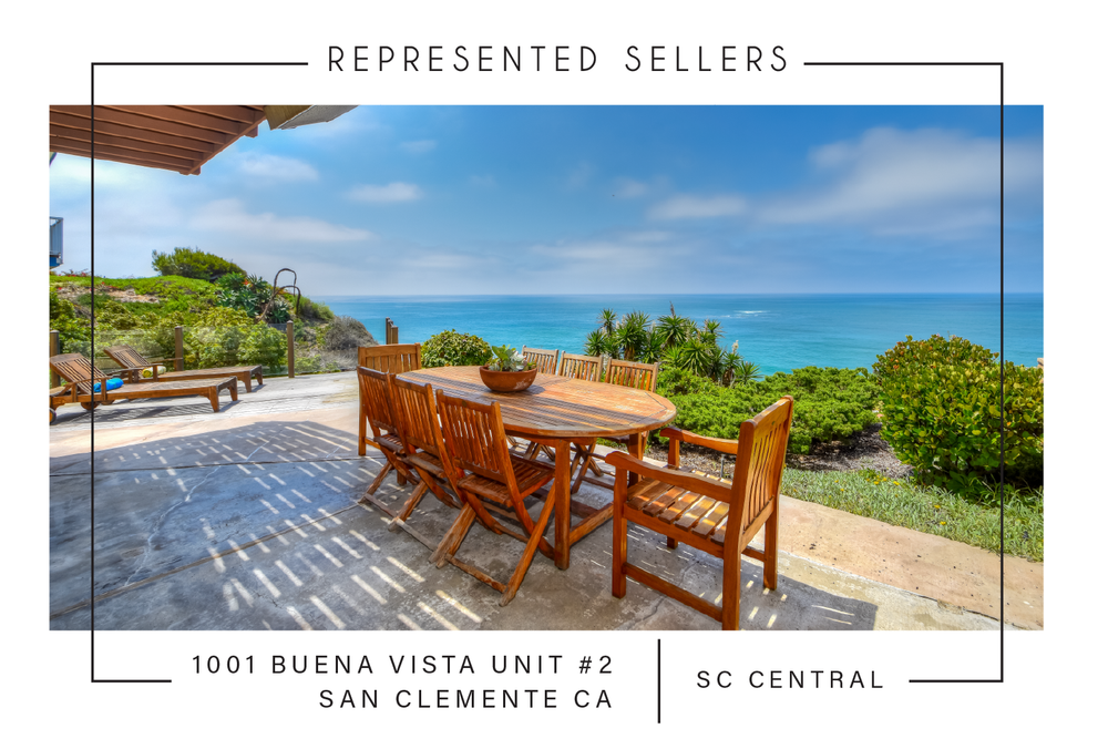 SOLD 10/18/2018  $1,545,000  1001 buena Vista Unit #2, San clemente Ca