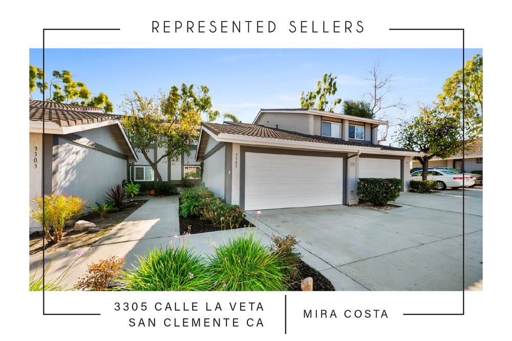 SOLD 03/01/2019  $600,000   3305 calle la veta, San Clemente CA