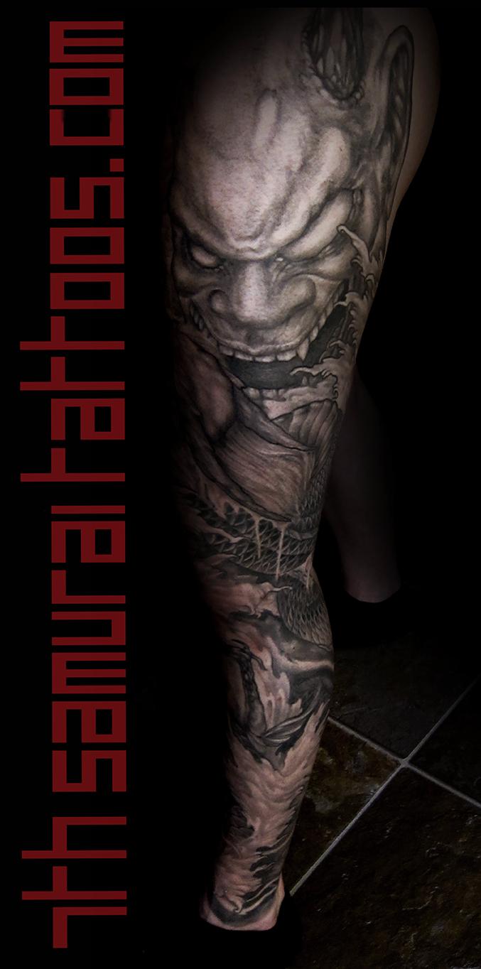 port Asian Dragon Oni Japanese Mask Koi 7th Samurai Tattoos Kai men's 15may16 050 1 main.jpg
