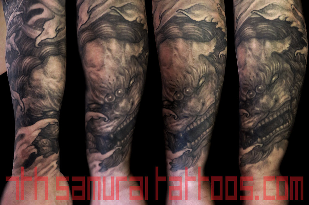 9 PORT Fantasy monkey king fudogs koi 7th samurai Kai men's asian sleeve IMG_1874 TIFF6 level white.jpg