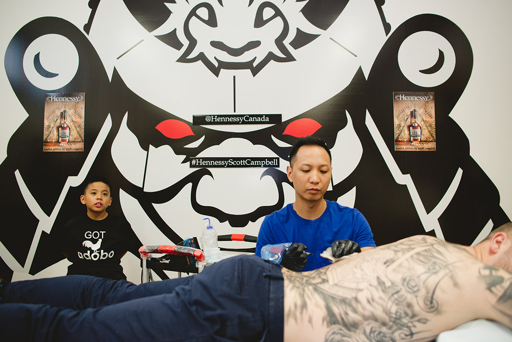 7 Kai 7th Samurai tattoos & Hennessy Scott Campbell pop up event.jpg