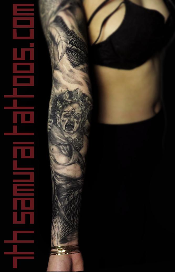 women's maria deity dragon smoke sleeve tattoo 2.png