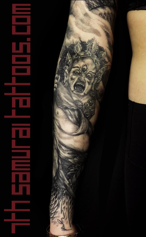 women's maria deity dragon smoke sleeve tattoo 3.png
