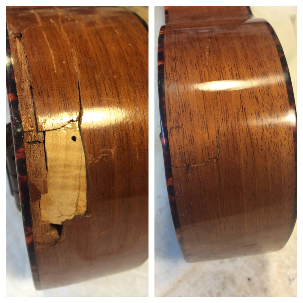 Lovely little soprano C.F.Martin & Co. uke before and after.