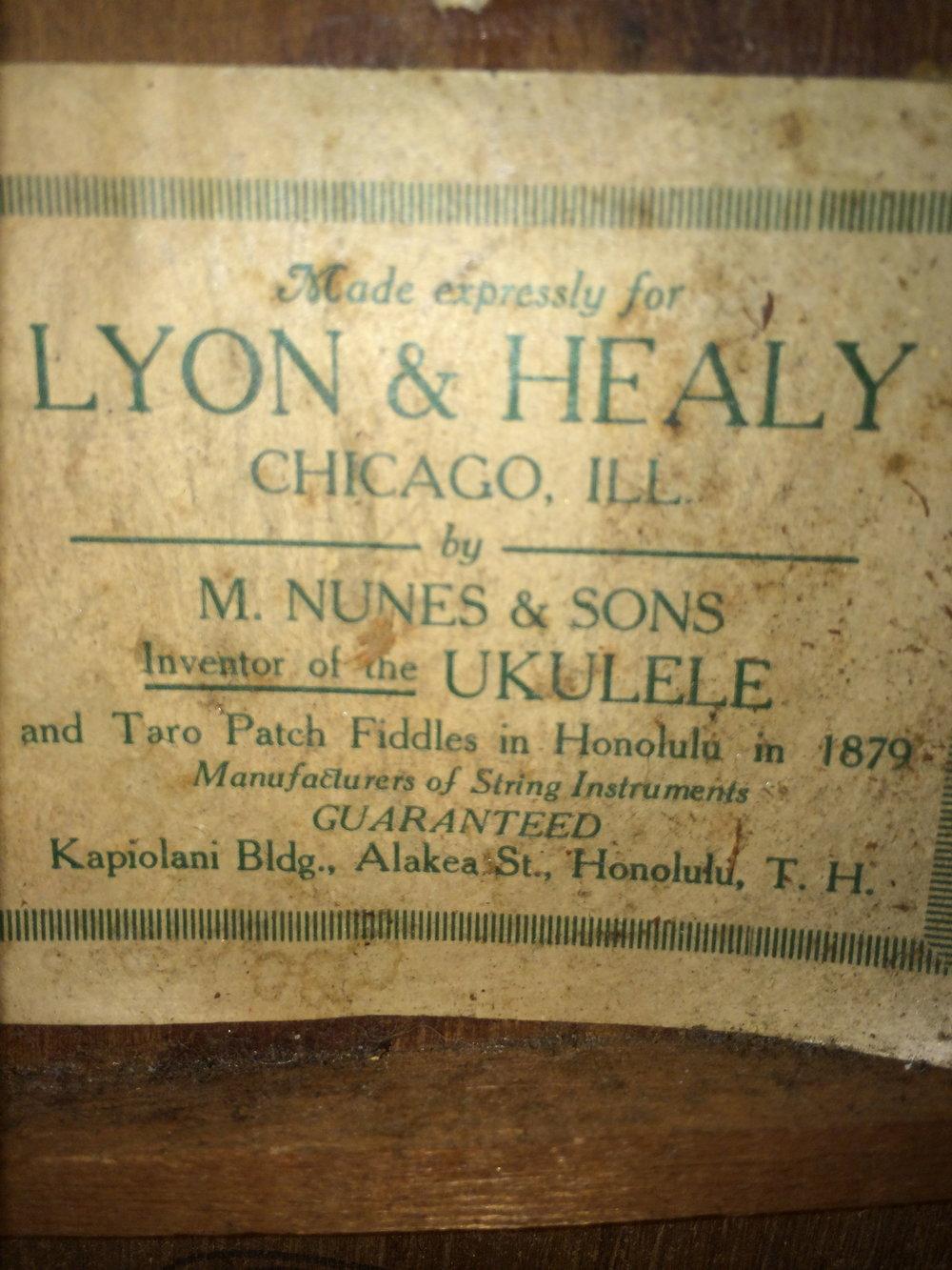 Historic Nunes Soprano Ukulele.