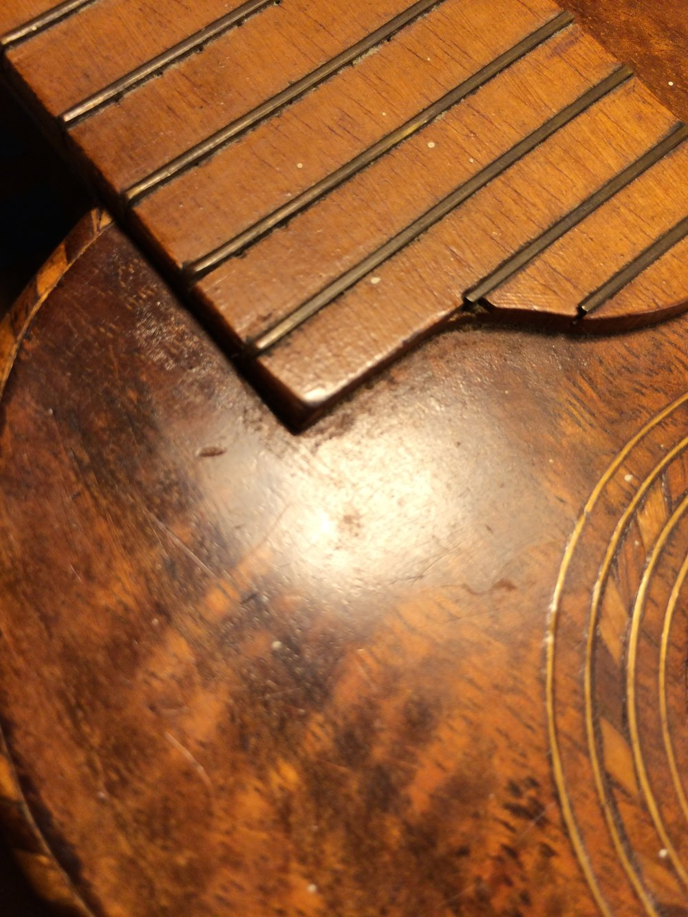 There was early speculation that this might have been the first Hawaiian uke to use a superficial fingerboard.