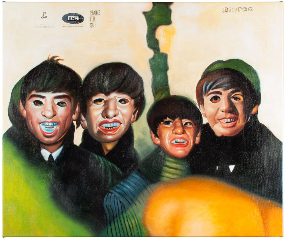Johnny Dunn   Shitty Beatles   Oil on Canvas 25 x 21 inches