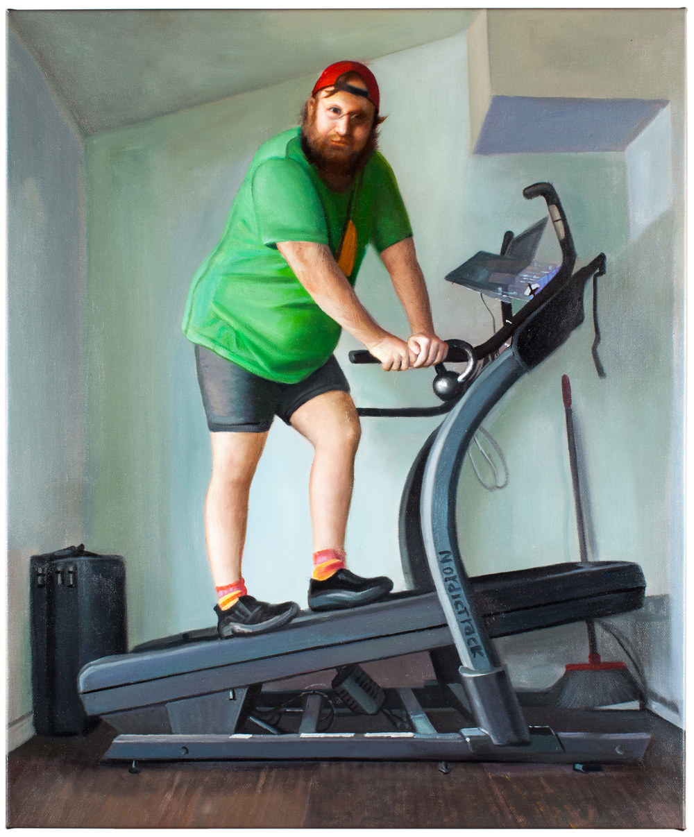 Pendleton Ward   Walking Desk   Oil on Canvas 20 x 24 inches