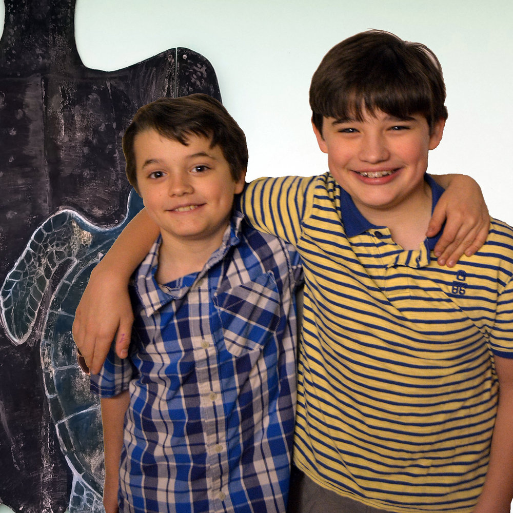 Brothers and turtle lovers Miles and Jaxon Toppen both attend Roosevelt Middle School in River Forest.