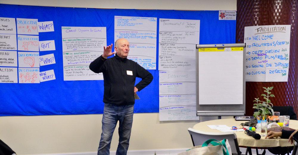 Dick Alton leading a workshop exercise.