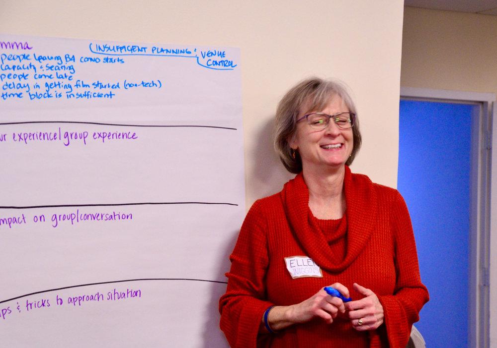 Workshop participant Ellen Wiggins.