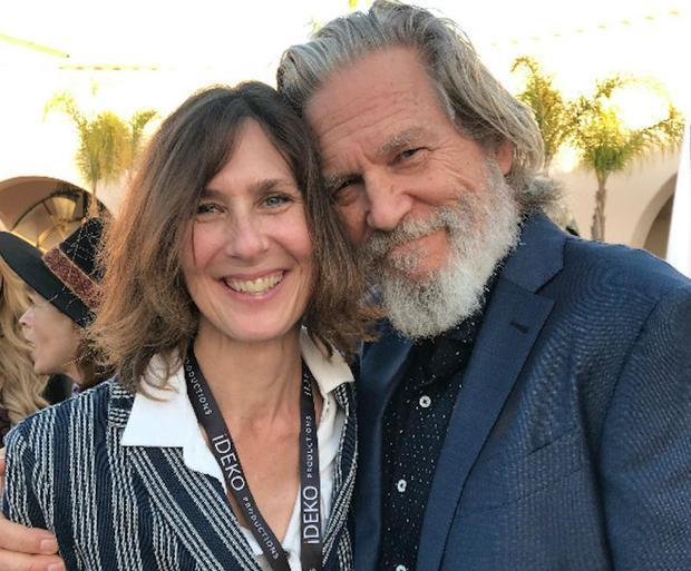 Director  Susan Kucera  with Narrator  Jeff Bridges.