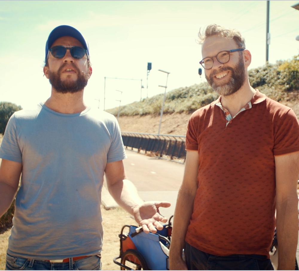 Directors  Arne Gielen  and  Gertjan Hulster.