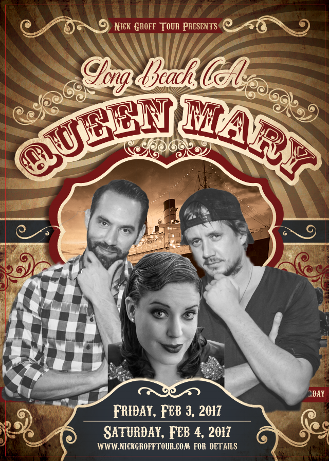 Amy Allan and Chad Lindberg join Nick Groff aboard the Queen Mary