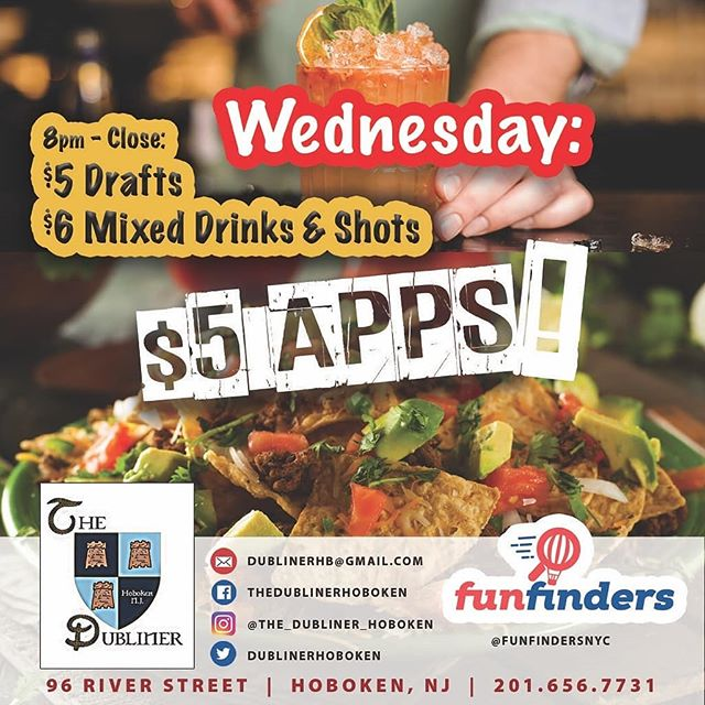 Come check out our food. It's pretty good!!! All apps $5 excluding the Sampler Platter.  8pm-cl: $5 drafts and $6 Mixed drinks #thedubliner #wegivethepeoplewhattheywant #apps #wednesday #food