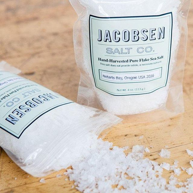We use the best ingredients in our ice cream including Jacobsen Sea Salt, hand harvested from Netarts Bay in Oregon.  Yup, we are that particular, even the salt. @jacobsensaltco
