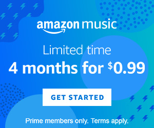 Amazon Music 4 months for $0.99