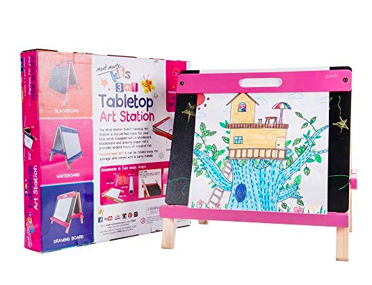 Table top kids easel