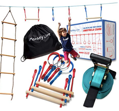 hanging obstacle course best outdoor gifts for kids