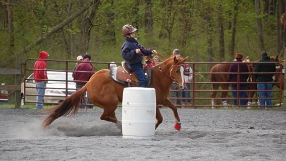 Matt and Ziggy Barrel Racing