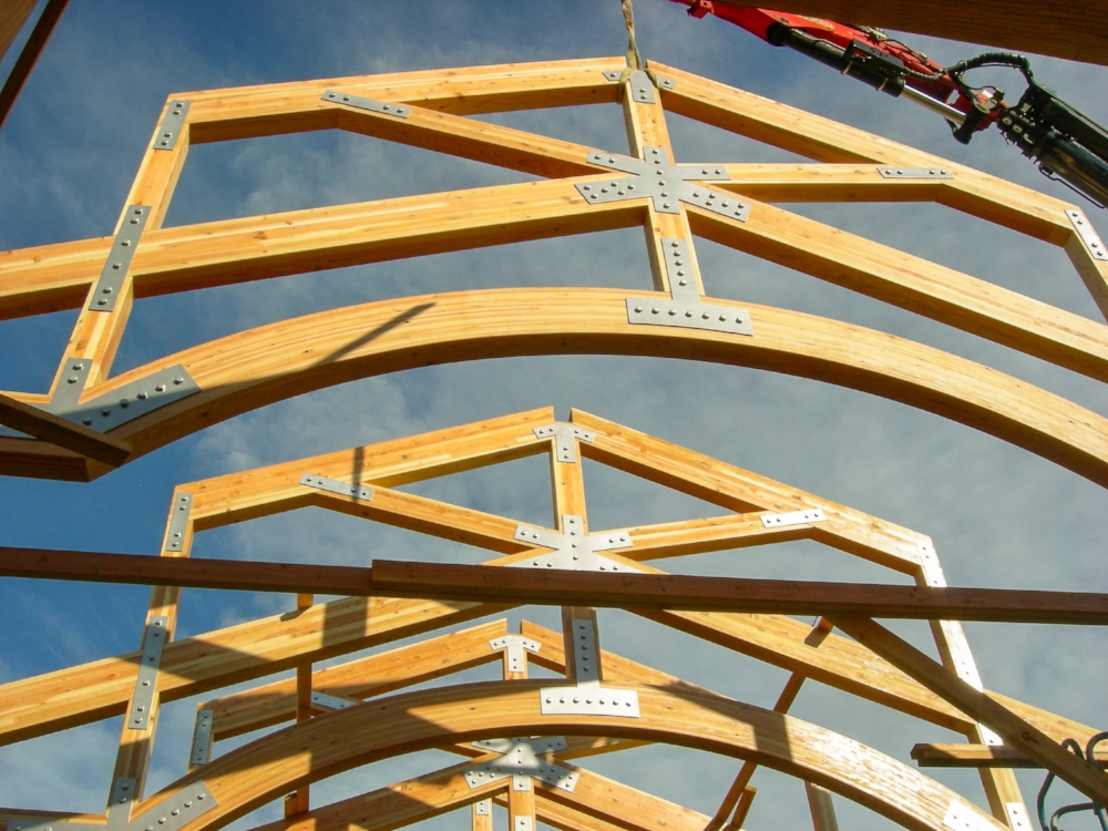 Timber trusses systems plus lumber co roof and floor for Pre made roof trusses