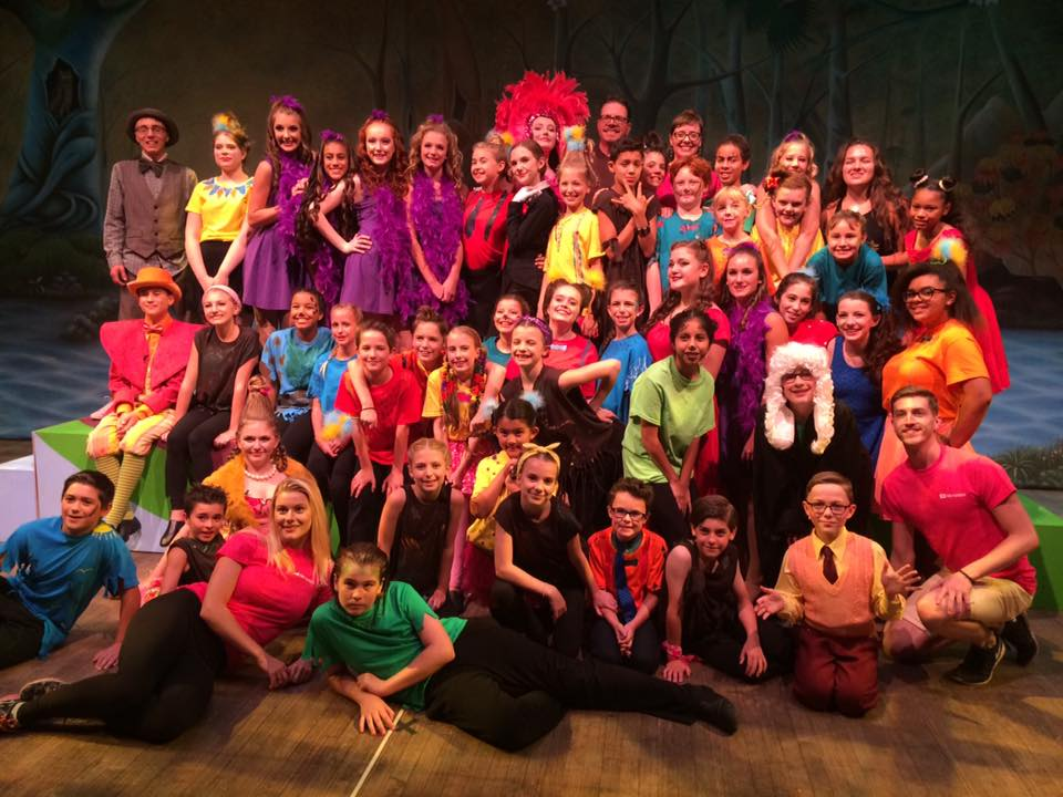 Students performing in SEUSSICAL at The Palace