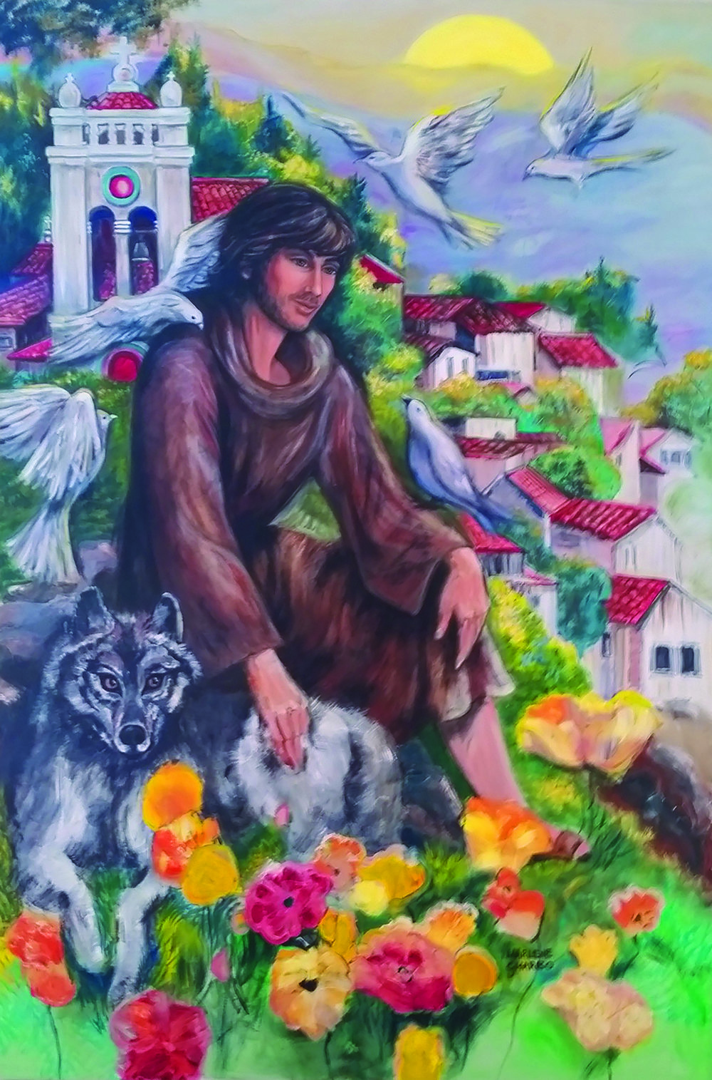 Painting by Marlene Gharbo for St. Bridget Catholic Church, Mesa, AZ