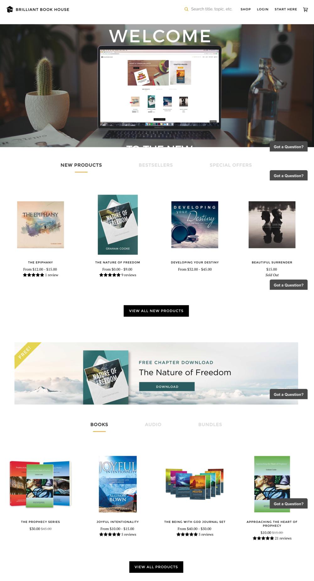 Launched eCommerce platform