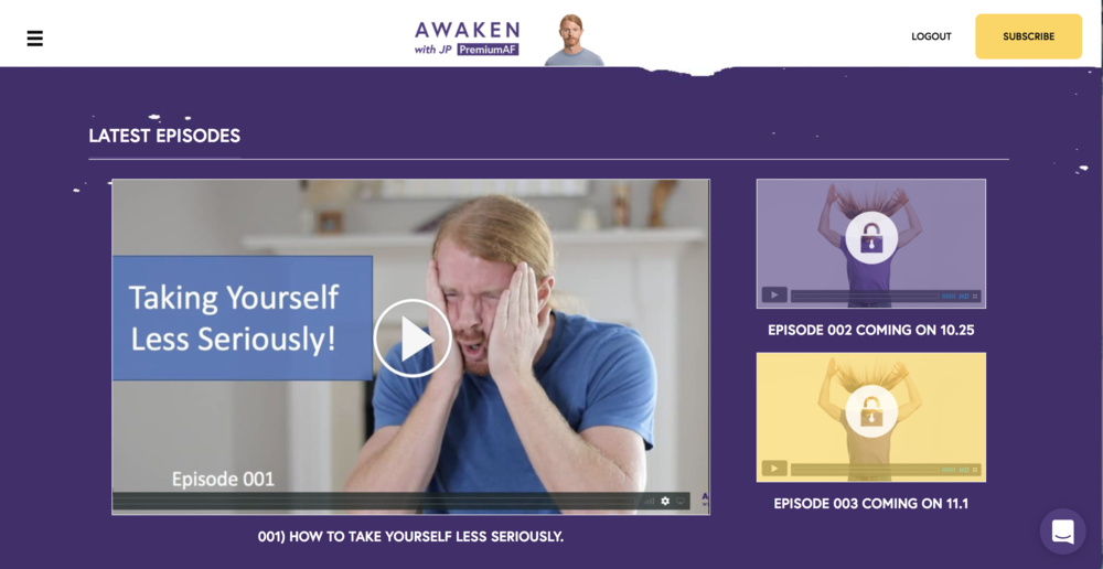 <b>Awaken with JP: PremiumAF</b><br>A Learning Community
