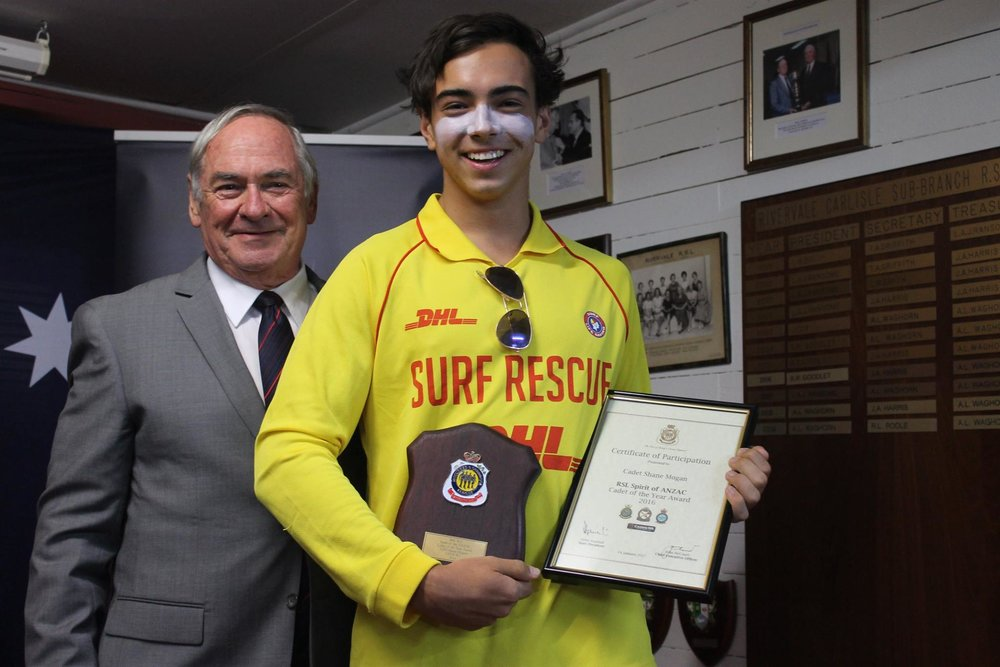 RSLWA Surf Life Saving Cadet of the Year: Shane Mogan