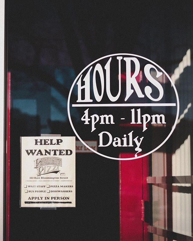 22/365  Pizza store door. #365project #365daychallenge #365photochallenge #red #blue #sign #minimalzine #gominimalmag #minimalmonday #habitsofexcellence #leviallen #northside #iowacity