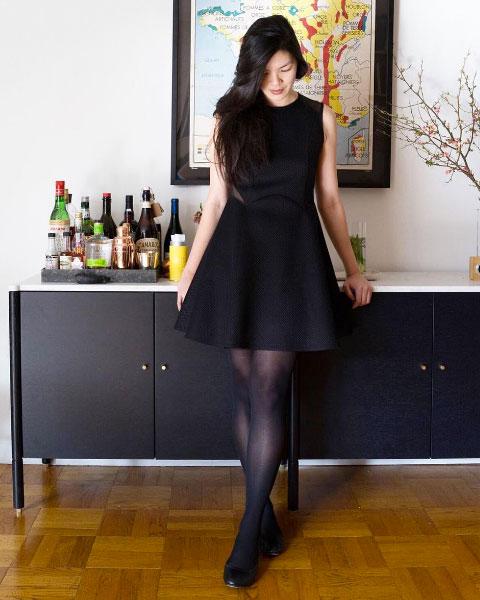 @kathyylchan in S/S 16 dress.