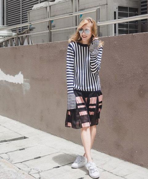 @jadeseah  in S/S 17 skirt.
