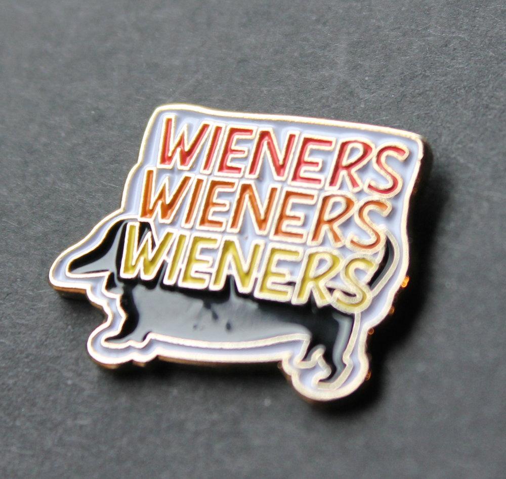 Limited edition Wiener Dog Pin, designed by bobo design studio!
