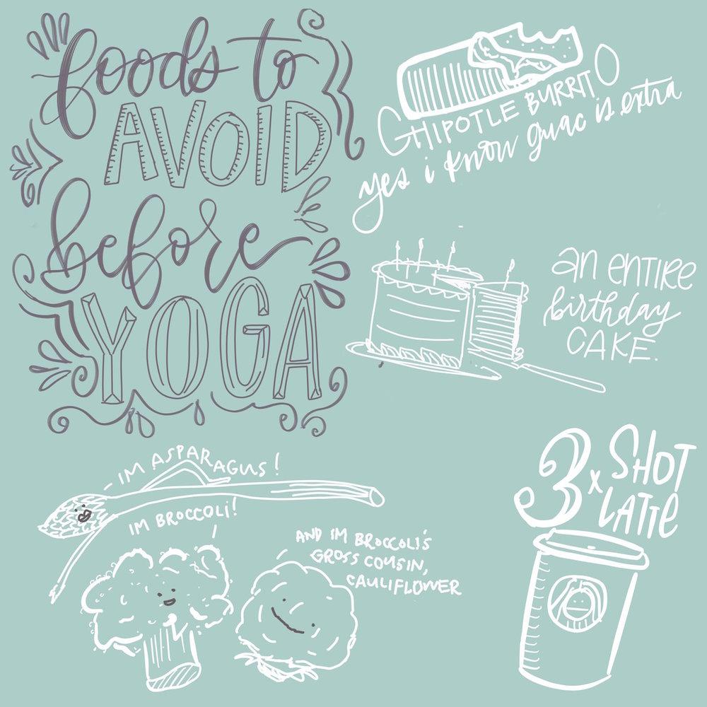bobo design studio - foods to avoid before yoga