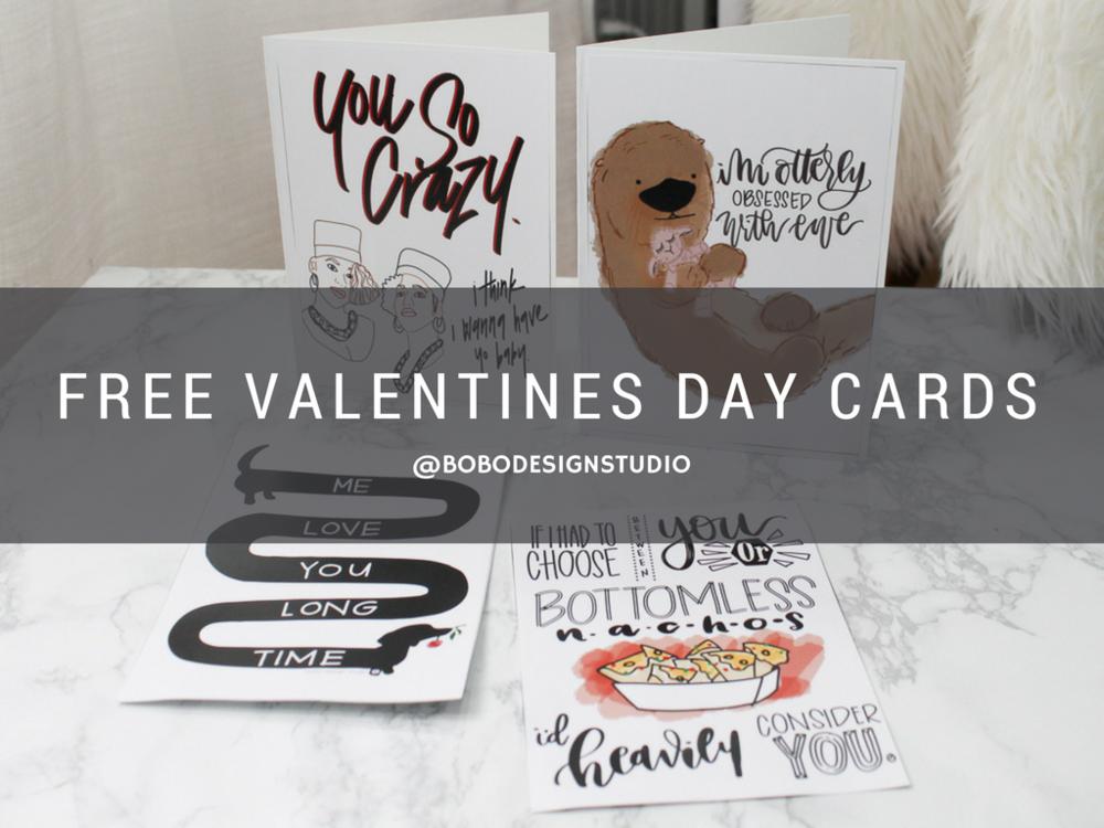 bobo design studio- free valentines day cards