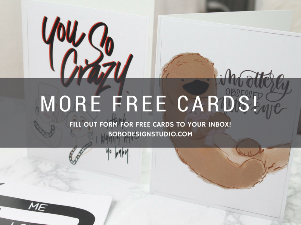 bobo design studio - free downloadable valentines day cards