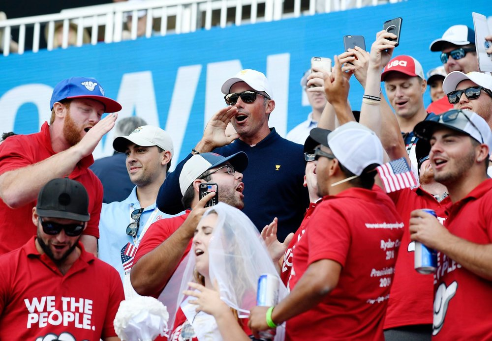 USA favourite and all round legend Matt Kuchar joins We The People supporters in the stands in cheering for Team USA!