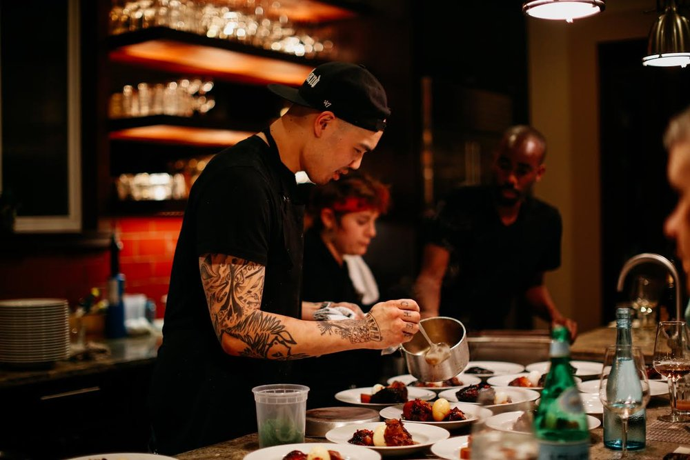 a photo of Chef Tu in action (Photo: Chef Tu David Phu)