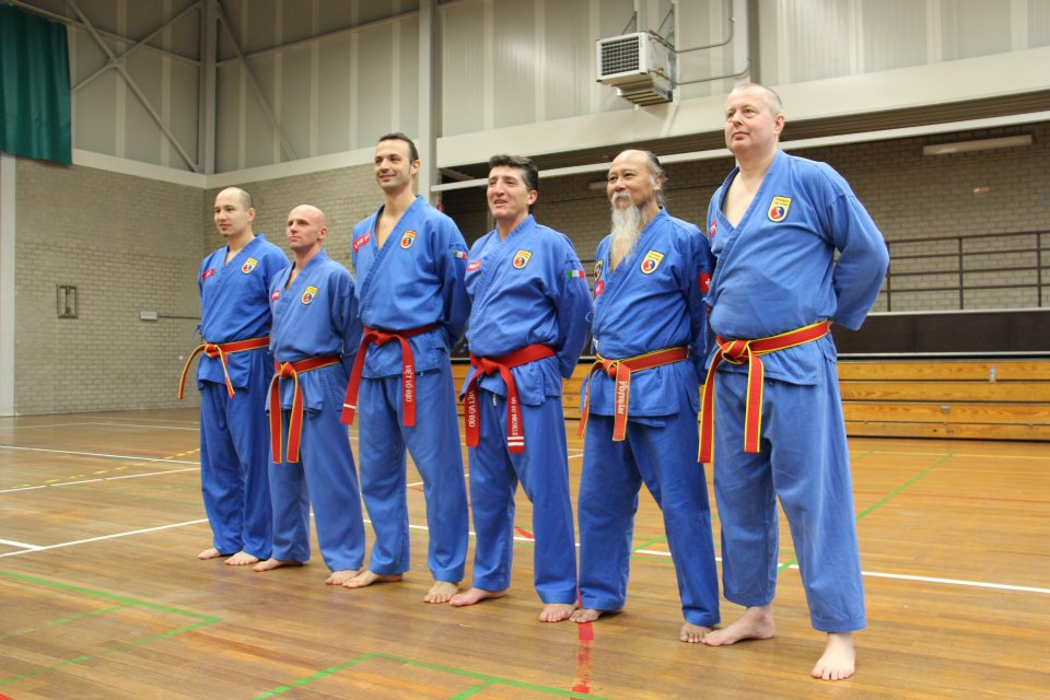 Masters are awarded the red belt, signifying a mastery of Vovinam at the blood level. (Photo: Vovinam Blegny)