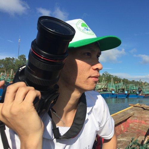 Reporter Trần Minh Nhật. (Photo: Loa)