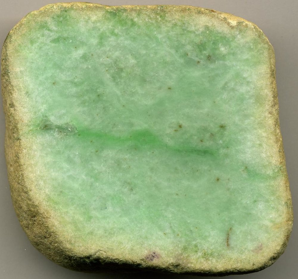 Jadeite in its unpolished form (Photo: James St. John. CC BY 2.0)
