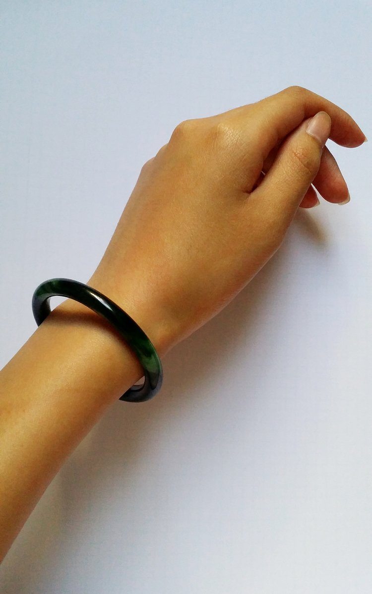 chinese color natural bracelets youtube ying bracelet river yu bangle genuine jade watch