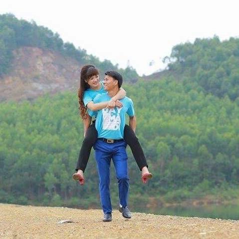 HồThị Châu and Nguyễn Văn Oai. (Photo: Facebook/Linh Châu)