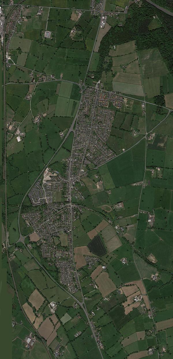 2016 Pen-y-ffordd - the real satellite image taken during summer 2016