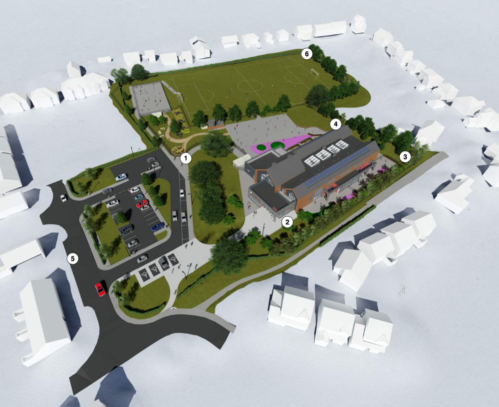 Phase 1 - the layout of the new school