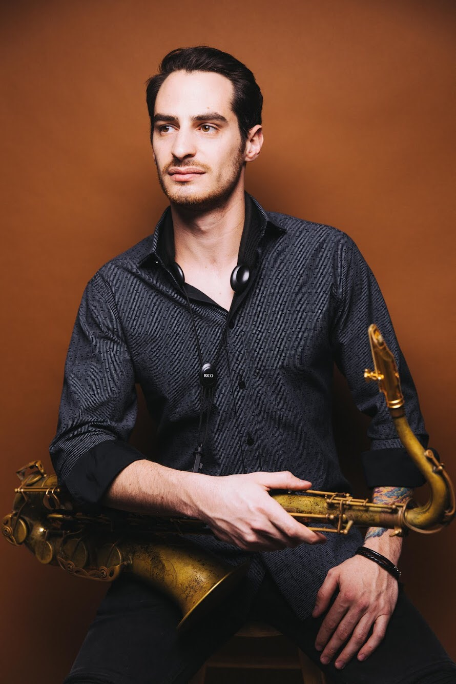 Tommy Weeks,  Tenor Saxophone    Tommy Weeks is a Connecticut born and raised saxophonist. He graduated from the University of Connecticut in 2013 with a Bachelor of Arts in Music studying under Greg Case. He has played on stages all over the world from New York, to New Orleans to Spain with the Funky Dawgz. He can also be seen touring with the Syracuse NY based hip hop/funk outfit, Sophistafunk. Tommy is a big music education ambassador; he frequently visits school systems to work with young musicians on developing their talents as well as working individually as a private instructor. As a mentor he hopes to inspire young musicians to continue with music and music education. He recently started as a guest artist instructor for the UConn Brass Band Ensemble and the Charter Oak Cultural Center Brass Band after school program in Hartford CT, as well as a woodwinds instructor for Project Music. On stage he is a force of energy and loves to see his audience smiling and dancing. He believes you are never too young to keep learning and getting better. Tommy endorses Theo Wanne Mouthpieces and D'Addario Woodwinds.